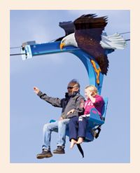 The Soaring Eagle Zip Ride at Glenwood Caverns Adventure Park opened in May 2011. It's a lot of fun! (Open May - September)  Photo by Cody Downard