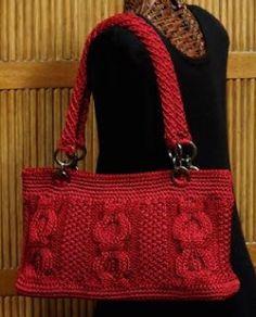 Knitting Daily TV Episode Crochet Corner, Nylon Purses with a Crocheted Handle - Media - Knitting Daily Crochet Chain, Crochet Tote, Crochet Handbags, Crochet Purses, Knit Or Crochet, Knitting Daily, Knitted Bags, Crochet Accessories, Handmade Bags