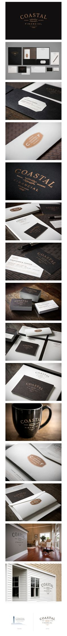 Coastal Financial Identity by Bluerock Design Co.