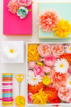 DIY faux flower gift