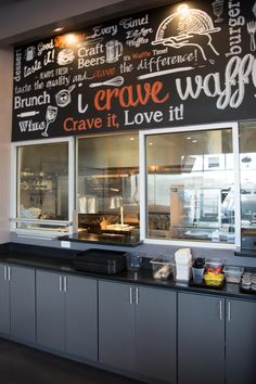 Crave waffle sandwich creations word collage at westgate in glendale, AZ
