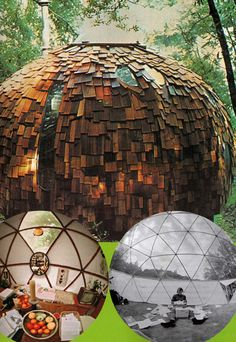 shingled geodesic dome, via nomadicway via cerebralmuseum