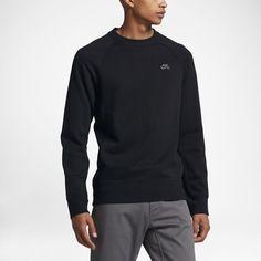 Nike SB Everett Crew Men's Sweatshirt Size Small (Black) - Clearance Sale