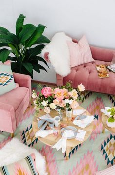 Lulu and Georgias Glam Living Room Collection Is #GOALS for Your Galentines Night in (and Beyond) via Brit + Co