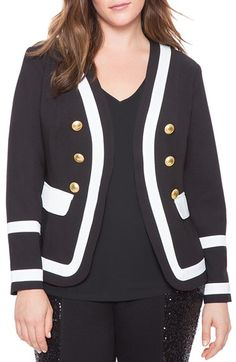 ELOQUII Studio Military Jacket (Plus Size) available at #Nordstrom