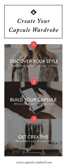 Say goodbye to clutter. Join Capsules to create your capsule wardrobe. We& walk you through a step-by-step process to create a mini, versatile wardrobe you love. Your Style, Style Me, Minimalist Wardrobe, Minimalist Style, Fashion Outfits, Fashion Tips, Fashion Design, Fashion Hair, Capsule Wardrobe