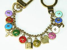 Louis Vuitton chain key holder bag charm used goods authentic