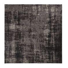 6927a485f5a3 Alfombra negra con motivos jacquard 200x200 -  200x200  Alfombra  con   jacquard