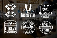 Fitness Vintage Badge & Logo by Tosca Digital on @creativemarket