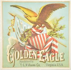 Golden Eagle Caddy Label - by Mebane Antique Auction