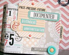 TERESA COLLINS DESIGN TEAM: Calendar mini album tutorial by Cheri Piles using Memories collection by Teresa Collins Designs