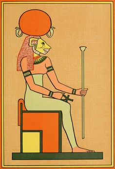An poster sized print, approx (other products available) - With the head of a lioness, she is the sister-consort of air-god SHU, and mother of GEB and NUT : she personifies moisture - Image supplied by Mary Evans Prints Online - Poster printed in the USA Egyptian Goddess, Egyptian Art, Egyptian Mythology, Old Egypt, Ancient Egypt, Fine Art Prints, Framed Prints, Canvas Prints, Creation Myth