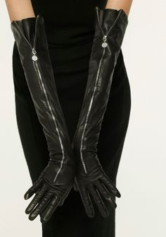Long leather gloves.. love these with a cape, skinnies and boots