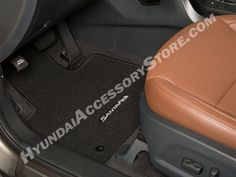 "Preserve the original carpeting of your Santa Fe with custom designed and color matched floor mats. A ""Nib"" underside will ensure a non-slip fit. Customized for you with an embroidered Santa Fe logo. Santa Fe 2013, Carpet Flooring, Floor Mats, Car Accessories, Preserve, Custom Design, Tote Bag, Logo, Fitness"