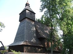One of few wooden Roman-Catholic Churches in Eastern Slovakia (most are Greek Catholic) near Bardejov in Hervartov
