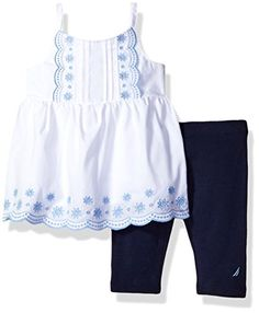 d28327047a7 Nautica Baby Girls  Sleeveless Tunic with Capri Legging Set