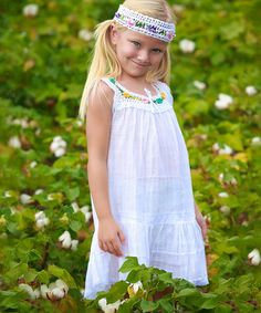 Look at this #zulilyfind! White Lucila Dress - Infant, Toddler & Girls #zulilyfinds