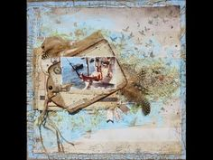 Mixed media scrapbook layout with a beachy feeling using burlap leftovers. - YouTube