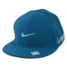 NIKE Golf True Tour Flat Bill Swoosh RZN Vapor XL 2XL Blue Force Flex Fit  Cap 63cb40feceda