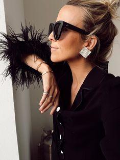 Damsel in Dior | Sleeper Feather-Trimmed Crepe de Chine Pajama Set Top 10 Instagram, Dress Like A Parisian, Oscar Night, Shower Outfits, Spring Shower, Black White Stripes, Fashion Plates, Pajama Set, Dior