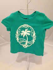 Juicy Couture Green Mermaid Girls Embellished Palm Crest Tee Shirt - XS YJRU8741