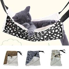Pet Kitten Cat Ferret Hanging Bed Hammock Soft Warm Fleece Pad Cradle Toy Gatos