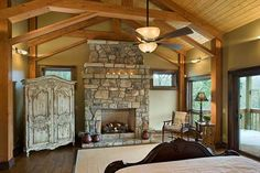 timber home living - bedroom