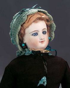 The Great Man's Doll: 10 French Bisque Smiling Poupee by Leon Casimir Bru