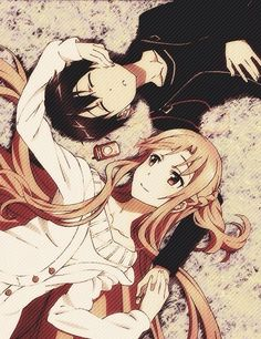 Kirito and Asuna Sword Art Online! – Swort Art Online – Kirito and Asuna ♥ Sword Art Online! Manga Anime, Anime Amor, Film Anime, Art Manga, Otaku Anime, Schwertkunst Online, Online Anime, Sword Art Online Kirito, Awesome Anime