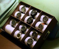 Diy 24 watch box from walmart! gifts for him проекты, органайзер и часы. Diy And Crafts Sewing, Crafts To Sell, Diy Crafts, Diy Gift Box, Diy Box, Diy Adornos, Watch Storage, Watch Organizer Diy, Watch Box