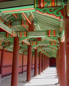 Exterior Corridor - Changdeokgung Emperor's Palace, Seoul, S. Korea