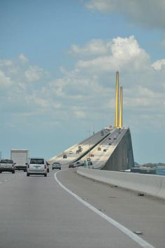 Tallest bridge in Florida.  Sunshine Skyway Bridge - St. Petersburg, Florida