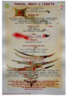 """""""Poesia, Amore e Libertà"""" Giovedì 1° settembre alle ore 18 appuntamento in Biblioteca per una serata di poesie, letture e musica.  Insieme agli amici e ai lettori volontari della Biblioteca Provinciale parteciperanno il Coro Polifonico di Atzara e i viticoltori atzaresi che offriranno una degustazione del Vino Mandrolisai. Per maggiori informazioni: https://bibliotecaprovincialecagliari.com/2016/07/29/poesia-amore-e-liberta/"""