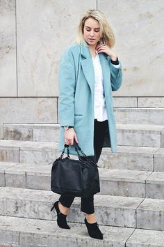 River Island Coat, Zara Bag, Zara Shoes