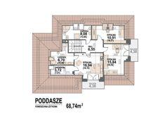 Kliknij aby powiększyć Model House Plan, House Plans, Home Building Design, Building A House, Model Homes, Floor Plans, Home Plans, House Floor Plans, House Design