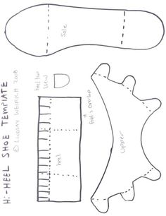 Paper Shoe Template | Do you want free paper-crafting templates? | Thefrugalcrafter's Weblog