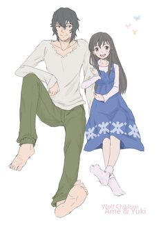 Father and Daughter- Ookami and Yuki from Wolf Children