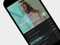 iOS7 Simple Music Player App - by Kreativa Studio   #ui