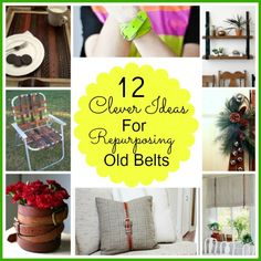 12 clever ideas for repurposing those old belts you don't wear anymore