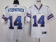Bills #14 Ryan Fitzpatrick White 2011 New Style Stitched NFL Jersey