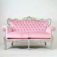 Pink Furniture, Must have in my pink room! Pink Furniture, Painted Furniture, Barbie Furniture, Rosa Couch, Pink Couch, Pink Settee, Deco Retro, Pink Houses, Everything Pink