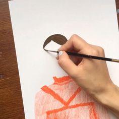 little #wip of my illustration for @erdemlondon ss17 〰 #gouache #painting #erdem #londonfashionweek