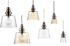 Pendant lamp / contemporary / glass POLLISH Design By Us