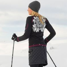 this entire outfit is on my Christmas list: snow stomper skirt, Dunton sweater and Polartec leggings. love.
