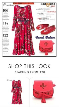 """Plus Size Dress by Banggood 3/20"" by esma178 ❤ liked on Polyvore featuring Martha Stewart"