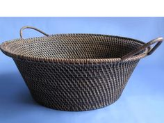 Beautifully hand made baskets, all natural finish, traditional style handwoven rattan baskets from Lombok, Indonesia.