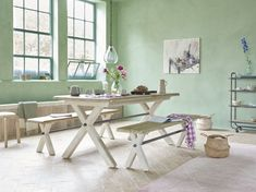 To put the jam in your doughnut we've made this classic, old school farmhouse dining table extendable. Gather the gang and chow down! Table, Handmade Wooden Dining Tables, Handmade Dining Table, Furniture, Beautiful Bedding, Painted Dining Table, Extendable Kitchen Table, Farmhouse Dining Table, Dining Table