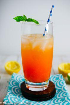 Orange Strawberry Tequila Fizz