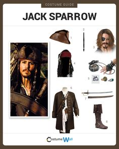 Dress Like Captain Jack Sparrow from the movie, Pirates of the Caribbean. See additional costumes and cosplays of Captain Jack Sparrow.