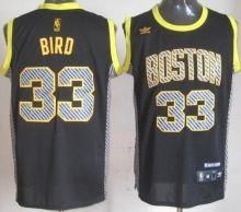 Boston Celtics 33 Larry Bird Black Electricity Fashion Revolution 30 Swingman NBA Jerseys Wholesale Cheap